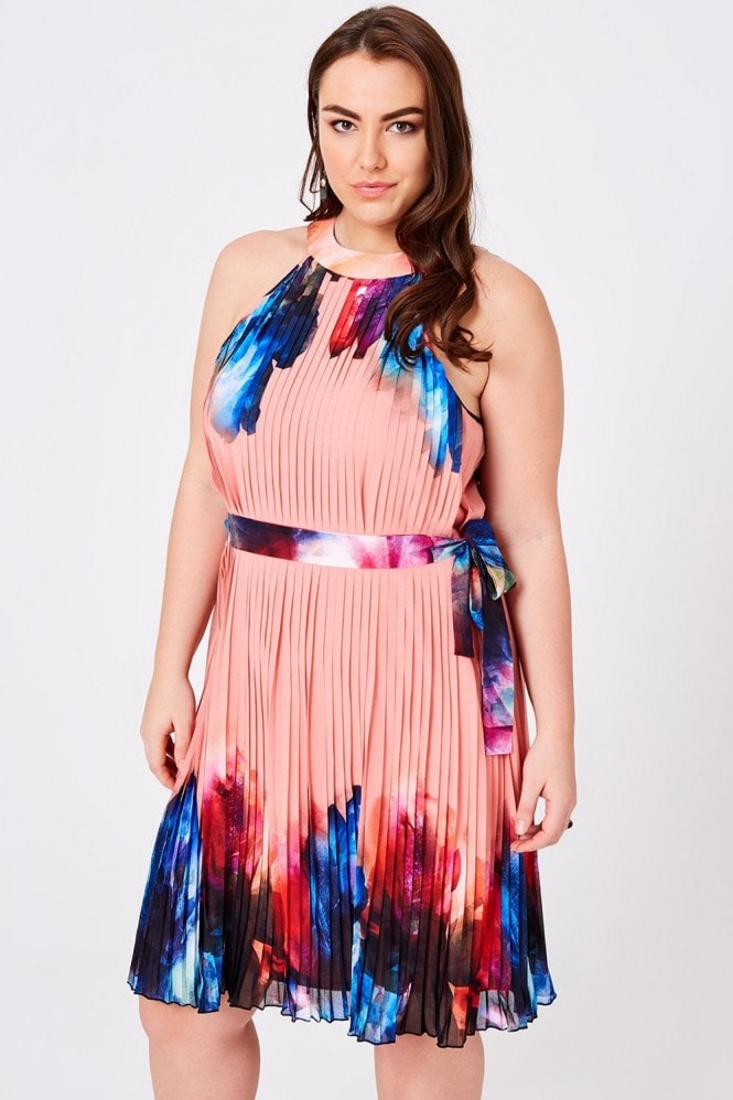 Little Mistress Curvy Rae Printed Shift Dress