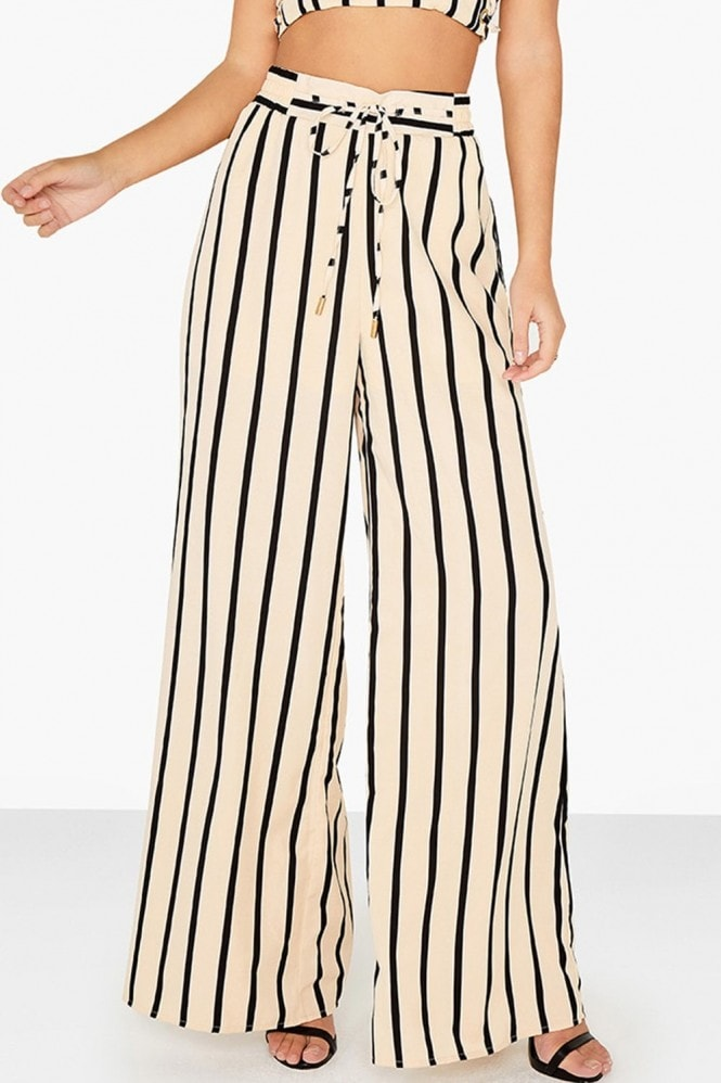 Outlet Girls On Film Striped Flared Trousers