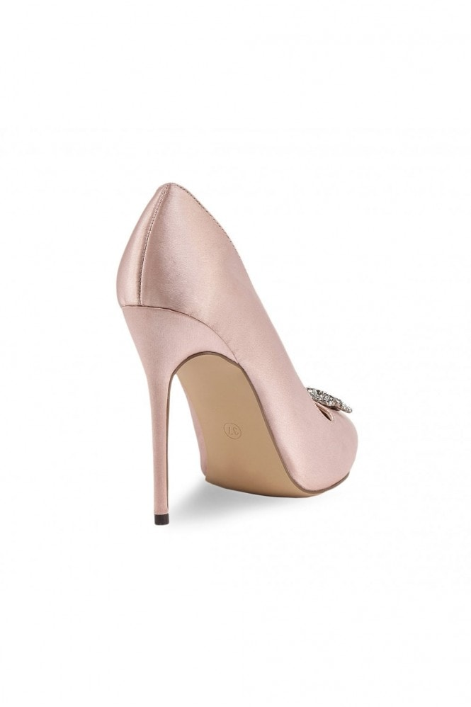 Paradox London Alandra Blush High Stiletto Jewelled Court Shoes
