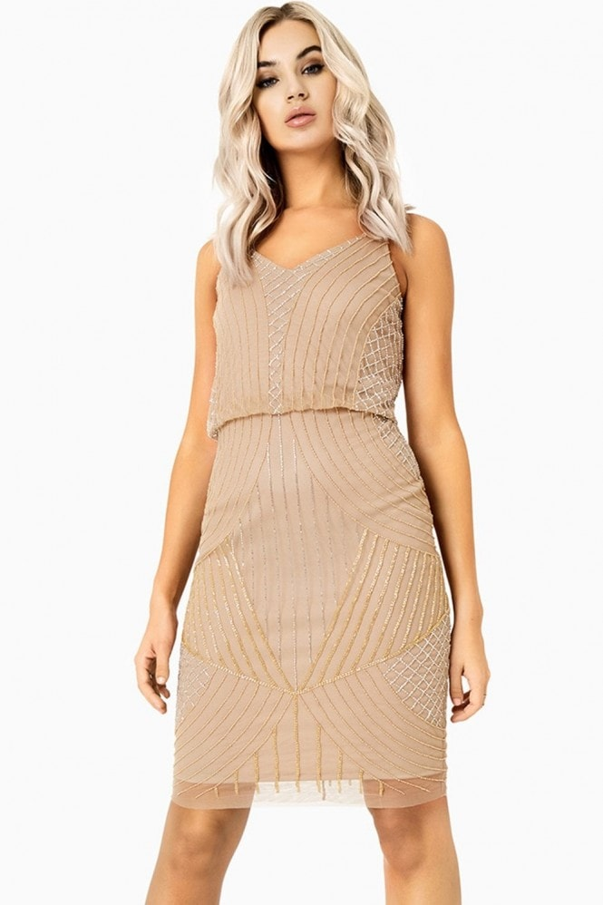 Little Mistress Alexis Beadwork Cami Midi Dress