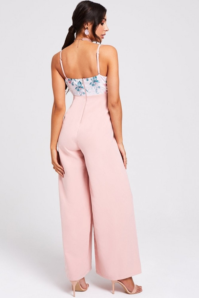 Paper Dolls Ohio Floral-Print Wide-Leg Jumpsuit