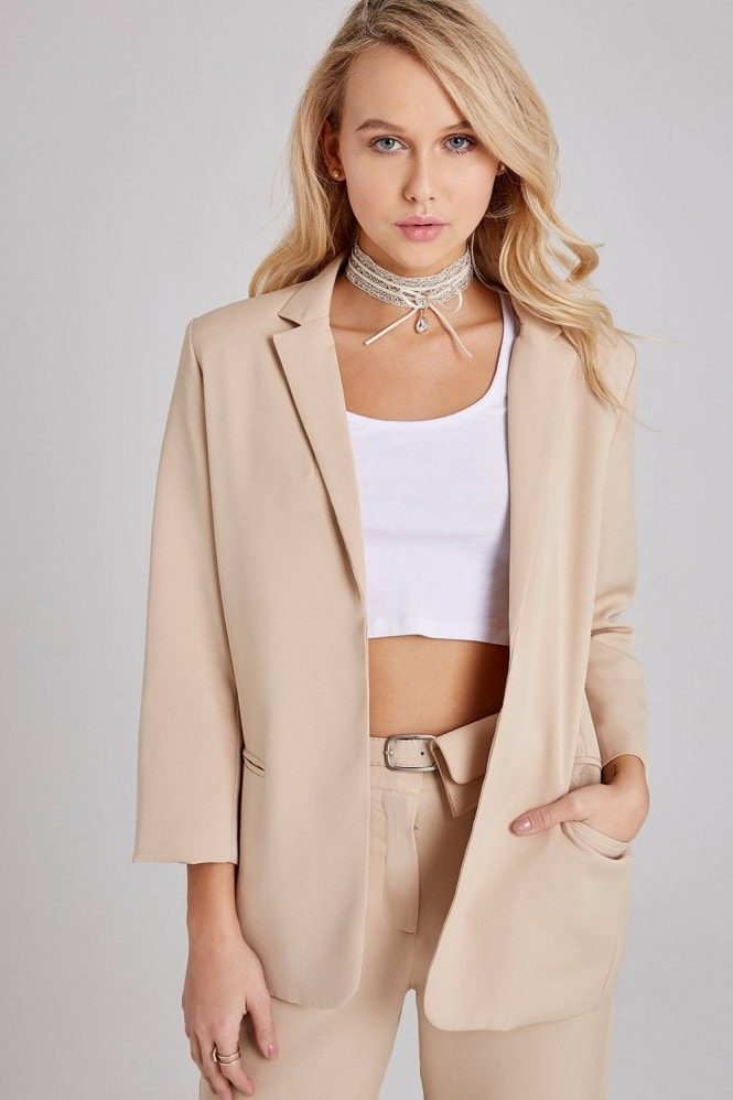 Outlet Girls On Film Maggie Beige Blazer Co-ord