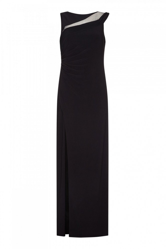 Adrianna Papell Black Wrapped Gown