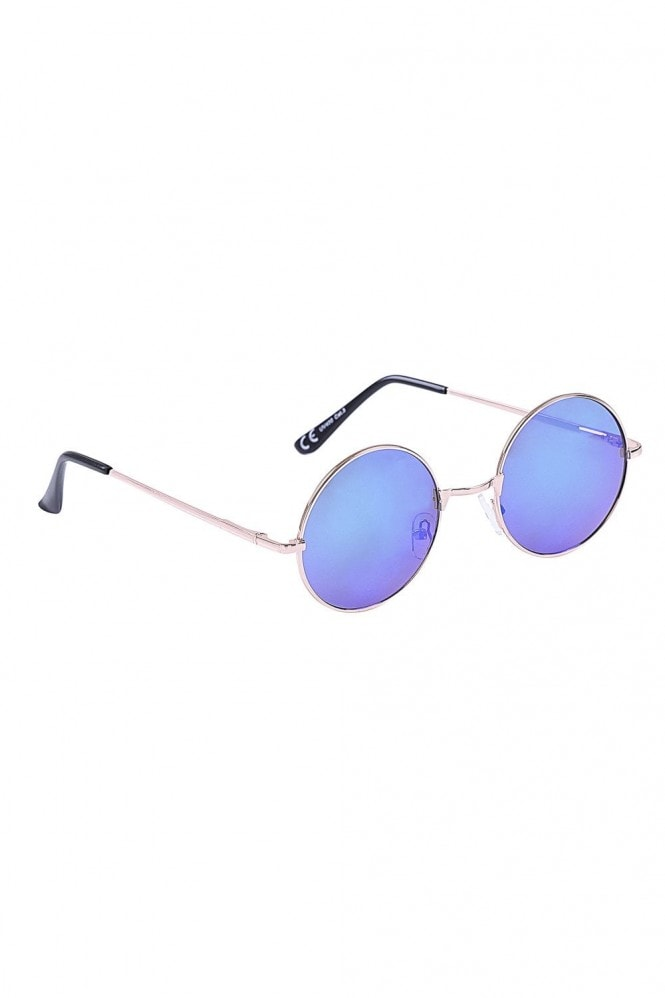 Jordan Blue And Green Round Festival Ready Sunglasses