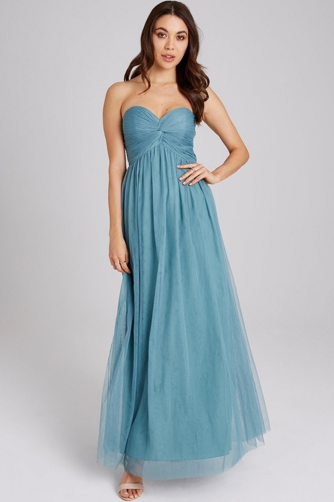 Little Mistress Ffion Fern Bandeau Maxi Dress