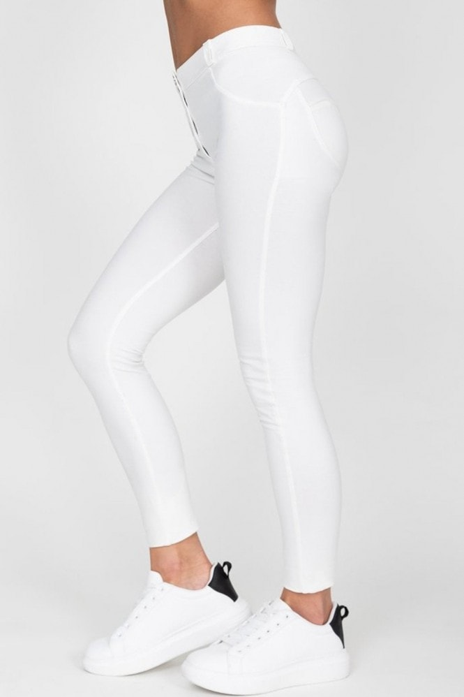 Hugz Jeans White High Waist Jegging