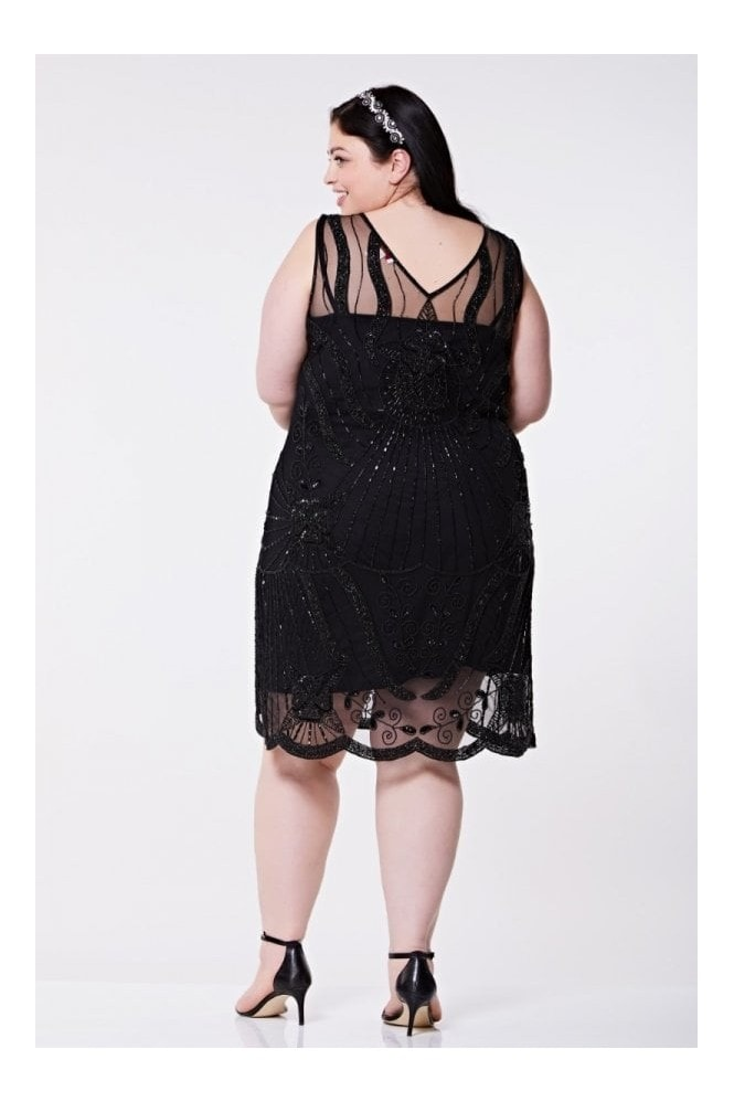 Gatsbylady London Diana Flapper Dress in Black