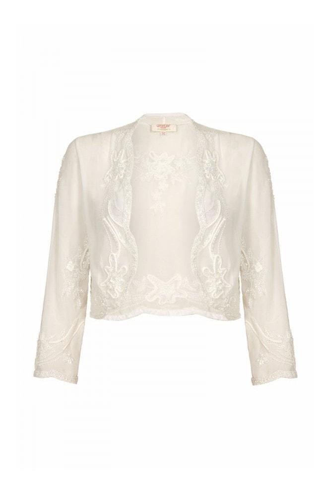 Gatsbylady London Mary Bolero in White