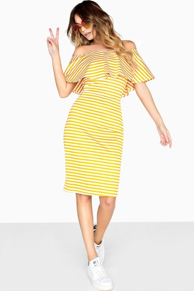 Girls on Film Candice Ruffle Overlay Dress