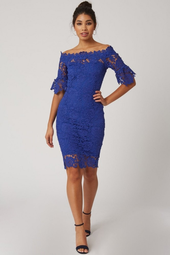 Paper Dolls Blue Crochet Dress