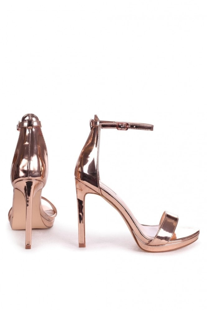 Linzi GABRIELLA - Rose Gold Barely There Stiletto Heel With Slight Platform