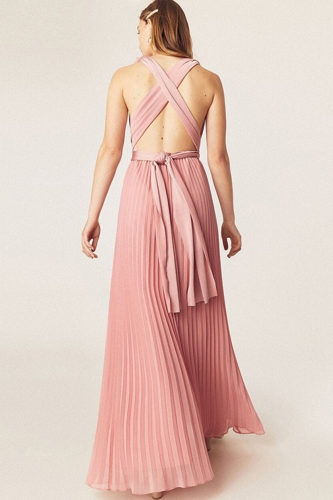 Oasis Wear It Your Way Pale Pink Maxi Dress