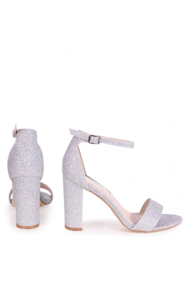 Linzi NELLY - Silver Glitter Single Sole Block Heel