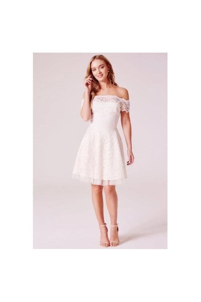Revie London Tessa Ivory Midi Dress