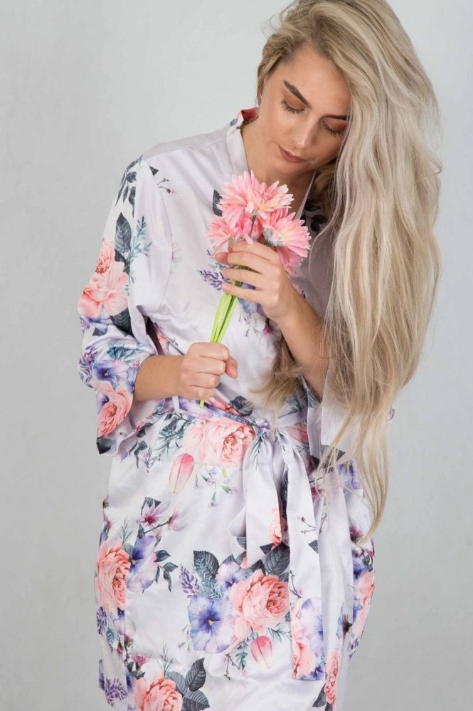 The Little Lovebird Isabella Floral Robe