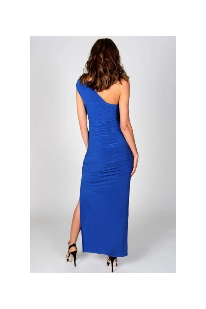 Revie London Angelina Maxi Dress in Cobalt Blue