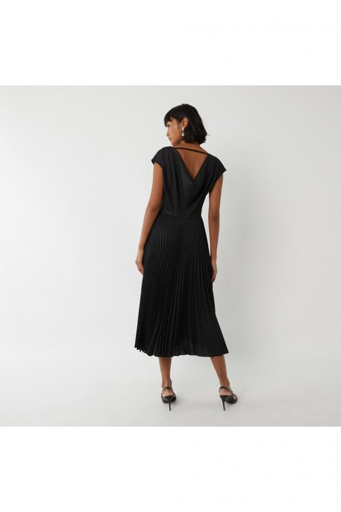 Warehouse COWL BACK PLEATED DRESS