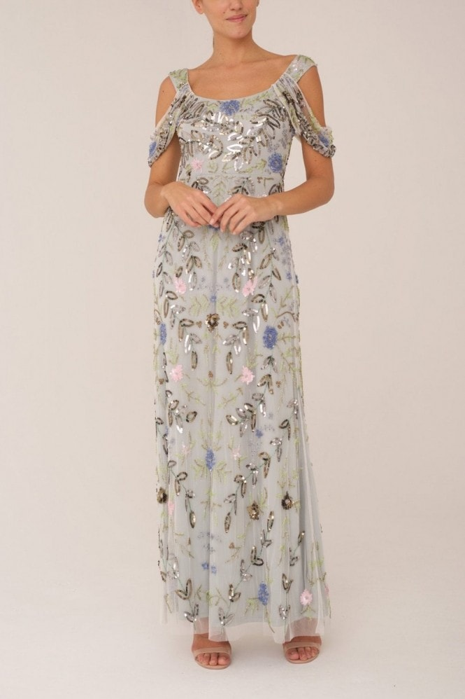 Raishma Pale Blue Embrioded Gown
