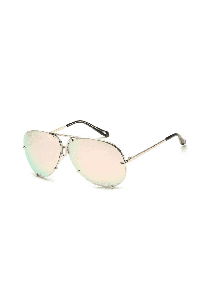 Don't Be Shady Whitney Bar Aviator Sunglasses