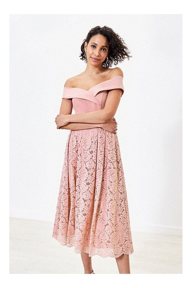 Oasis ISABELLA BARDOT TOP LACE SKIRT