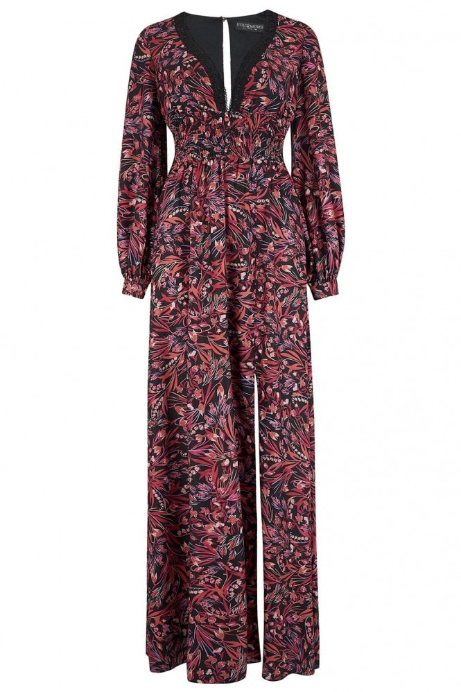 Little Mistress Rocco Paisley-Print Maxi Dress