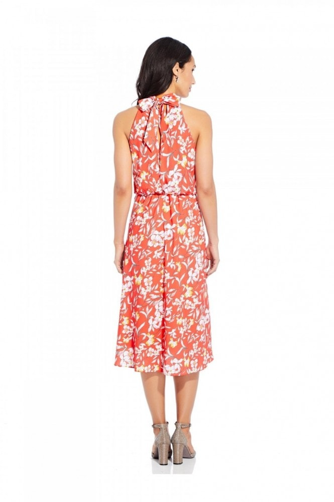 Adrianna Papell Tea Time Floral Bias Dress