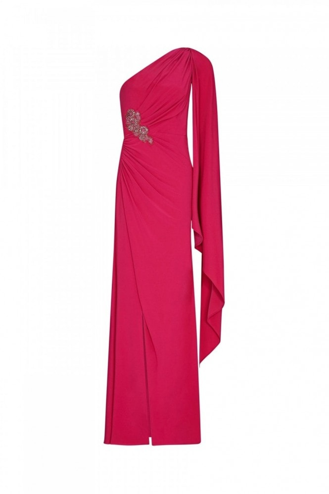 Adrianna Papell One Shoulder Jersey Gown