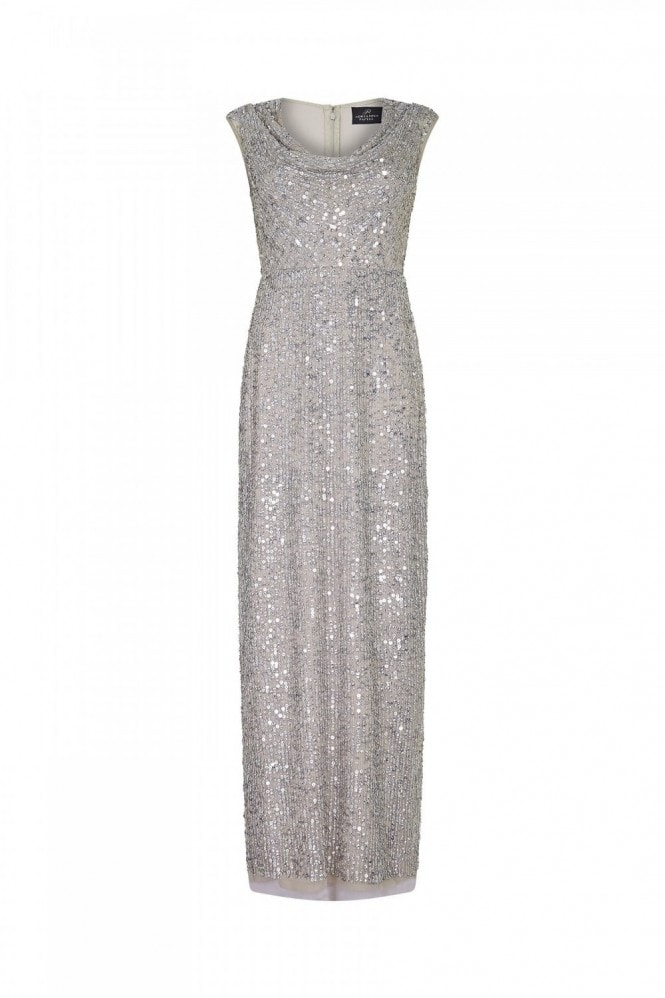 Adrianna Papell Long Beaded Dress