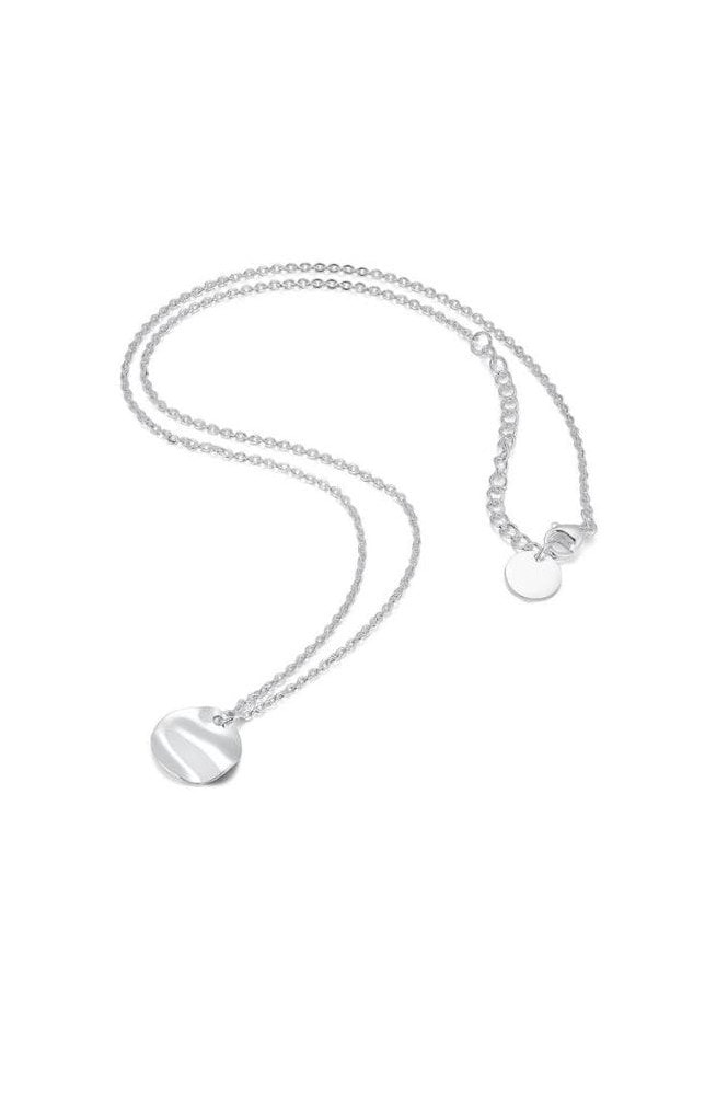 Haus Of Deck Layered Silver Bar & Circle Necklace
