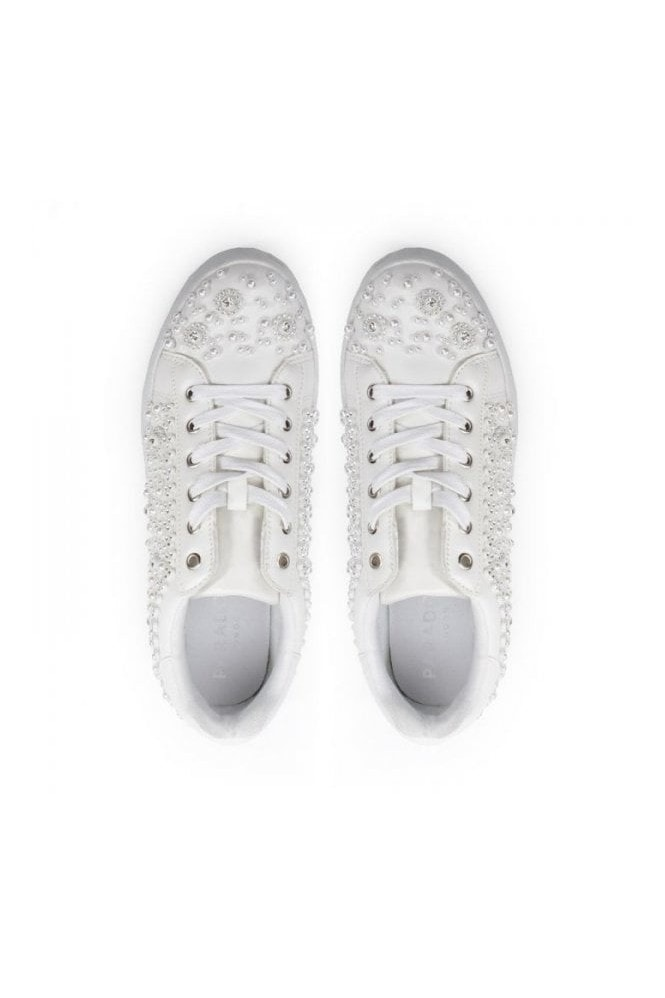 Paradox London Zarina' Crystal Encrusted Trainers