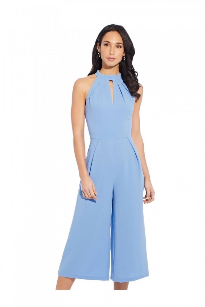 Adrianna Papell Cameron Woven Cropped Jumpsuit In Fountainebleau