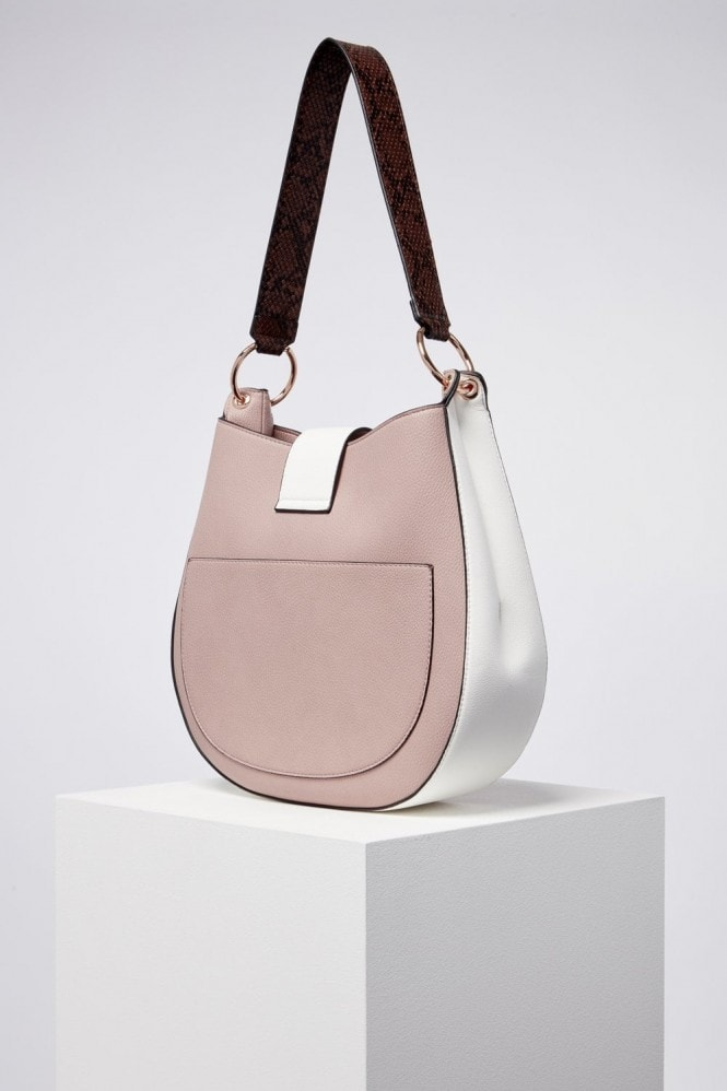 Luella Grey London Beatrice wooden eclipse hobo bag