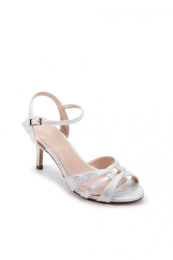 Paradox London Glitter 'Haigar' Wide Fit Mid Heel Sandal