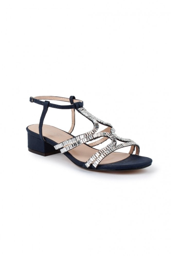 "Paradox London ""Izzy"" Wide Fit Low Heel Sandal"