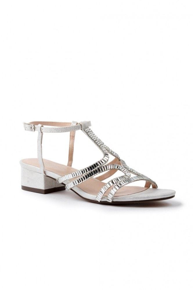 Paradox London Izzy Wide Fit Low Heel Sandal