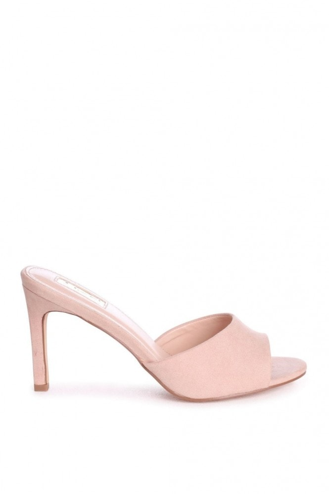 Linzi LOVE STORY - Nude Suede Mule With Stiletto Heel