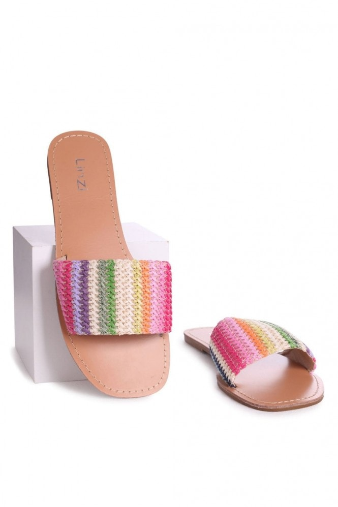 Linzi AMOR - Multicoloured Woven Rainbow Slider