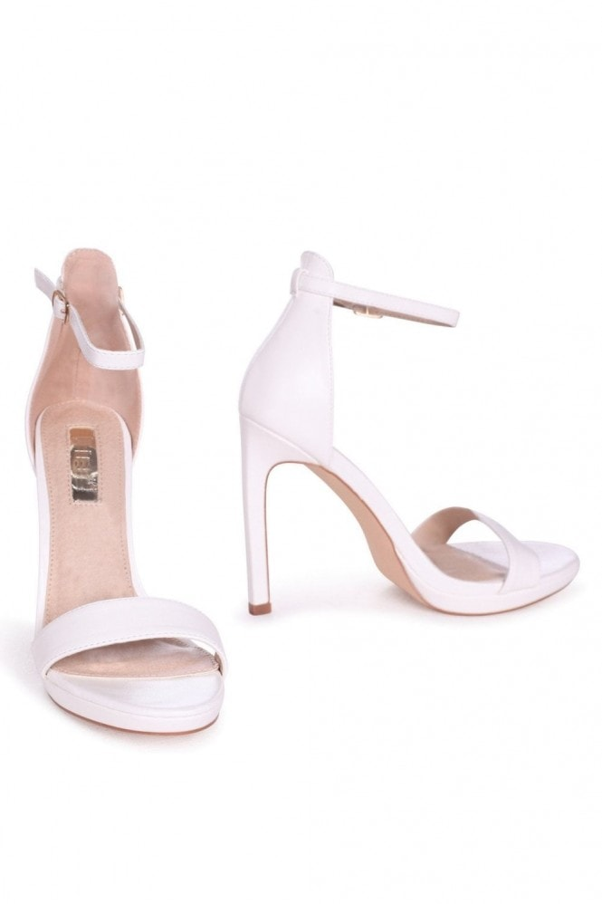 Linzi GABRIELLA - White Nappa Barely There Stiletto Heel With Slight Platform