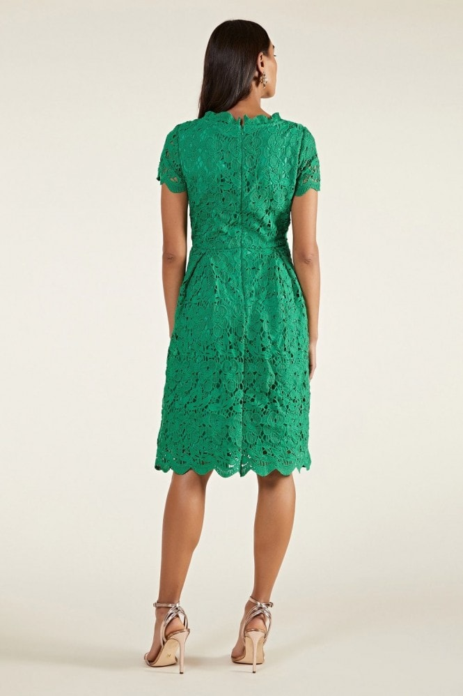 YUMI Guipure Lace Fit And Flare Dress