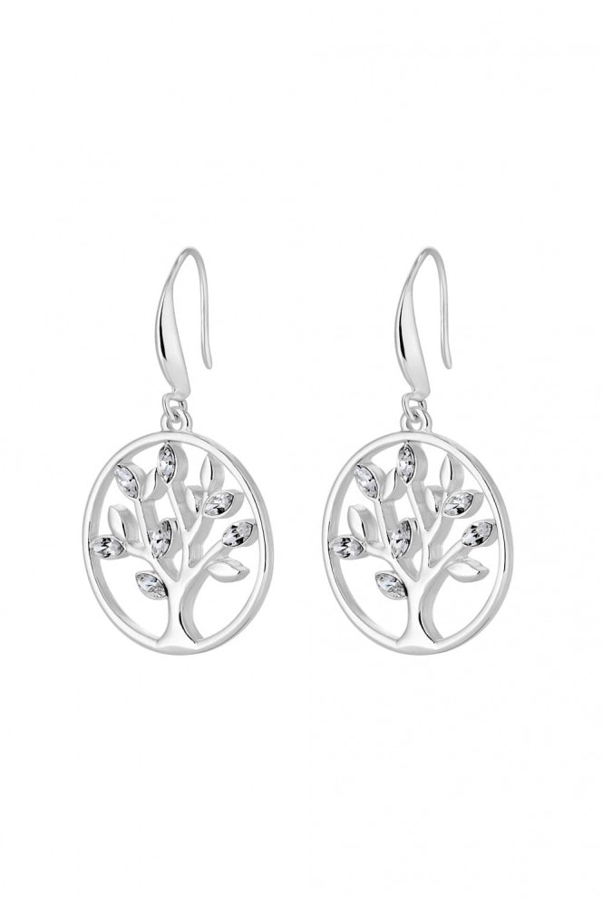 Jon Richard Jewellery Jon Richard made with Swarovski® crystals Silver Plated Tree Of Life Toggle Earring Made With Swarovski Crystal