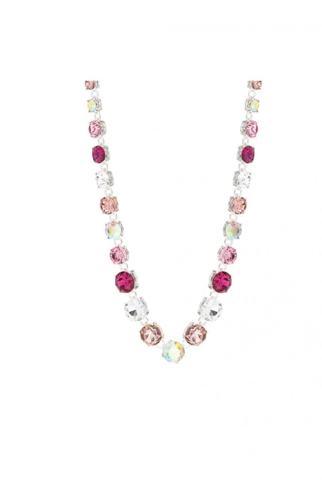 Jon Richard Jewellery MOOD - By Jon RichardSILVER PLATED TONAL PINK ROUND STONE NECKLACE
