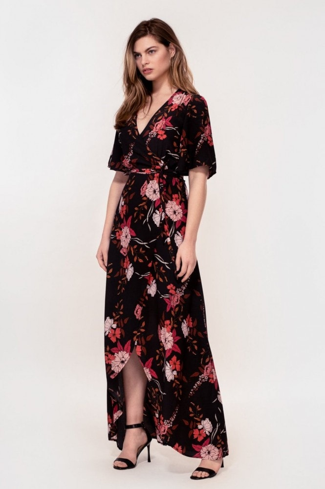 Hide The Label Rosa - Dress in Peach Floral Print