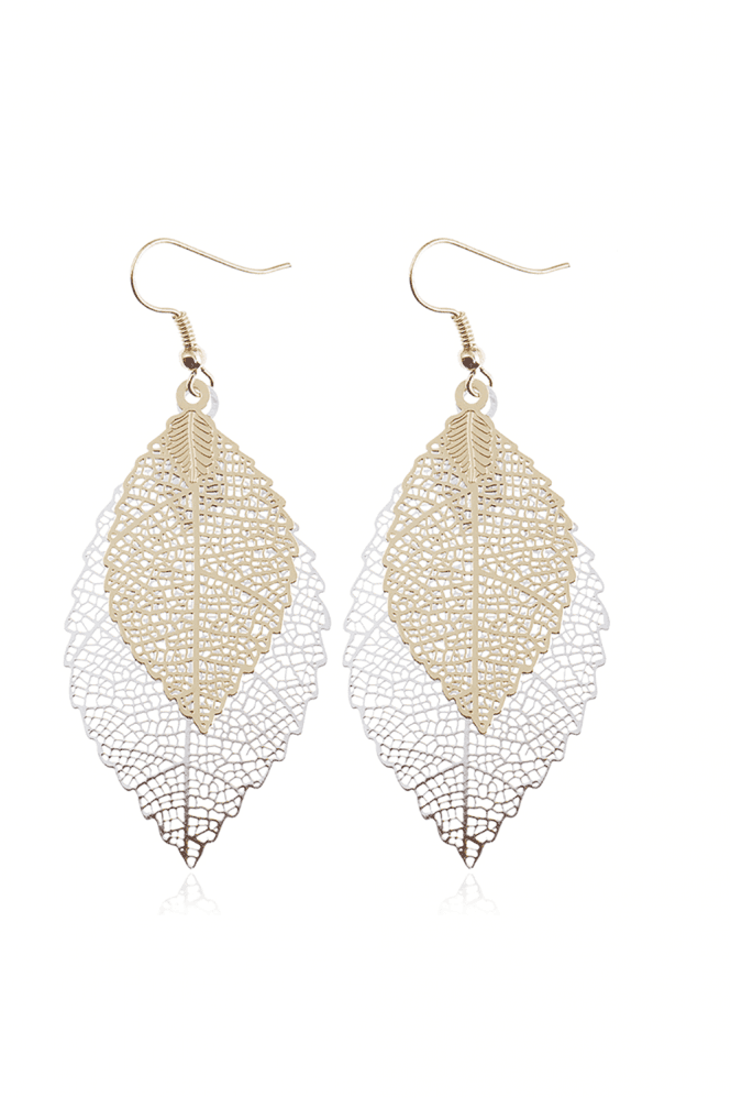 Xander Kostroma Multi Leaf Drop Cutwork Earrings