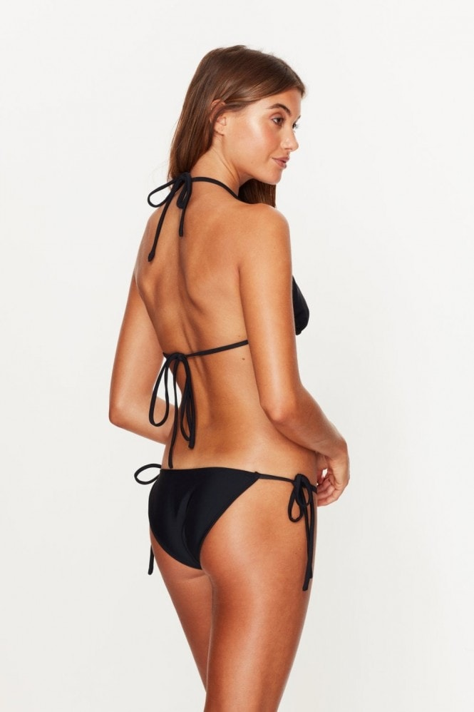 Toria Tonia Triangle Tie Side Bottoms Black