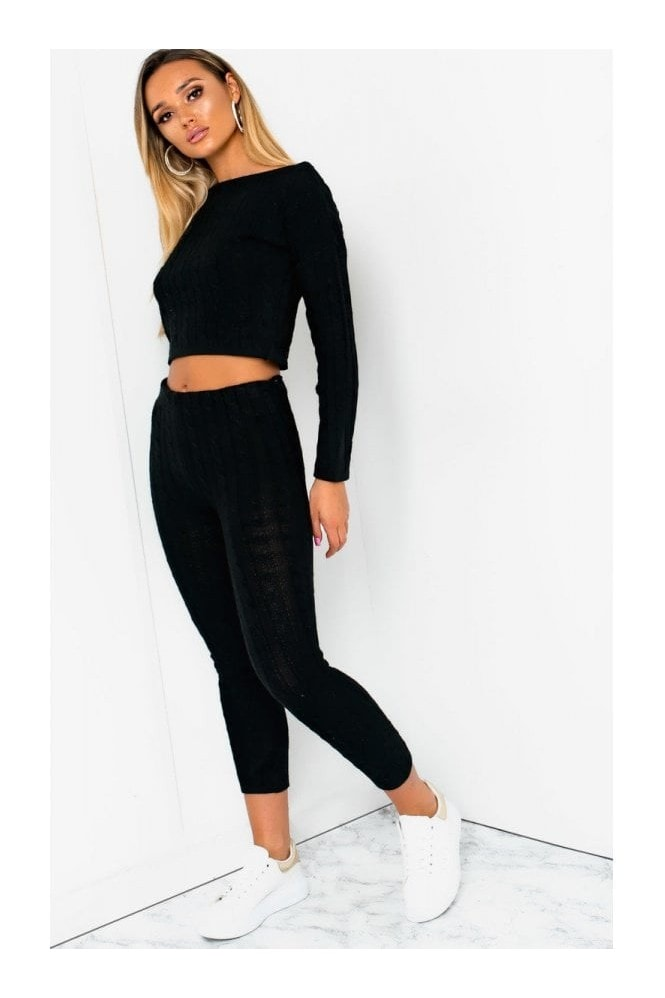 IKRUSH Mika Cable Knit Lounge Co-ord