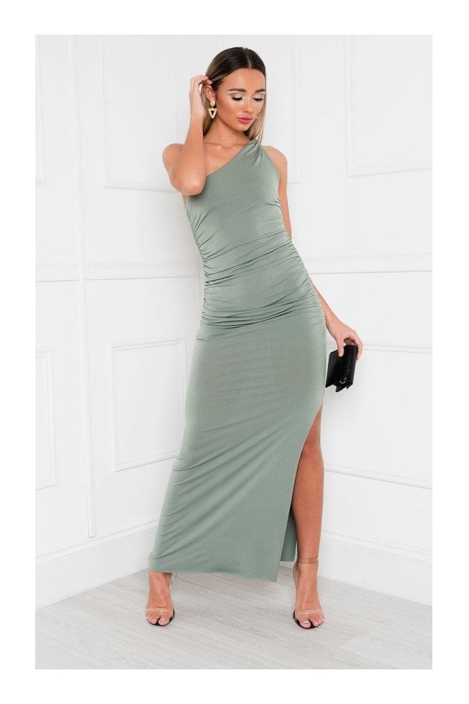 IKRUSH Naomi One Shoulder Bodycon Maxi Dress