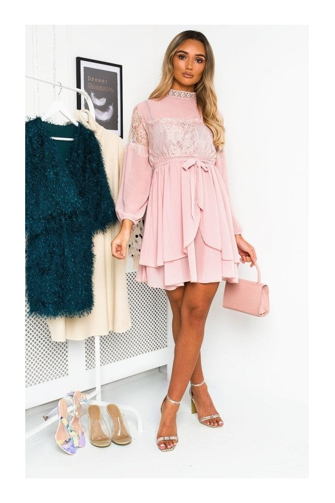 IKRUSH Lanah Lace Shift Dress