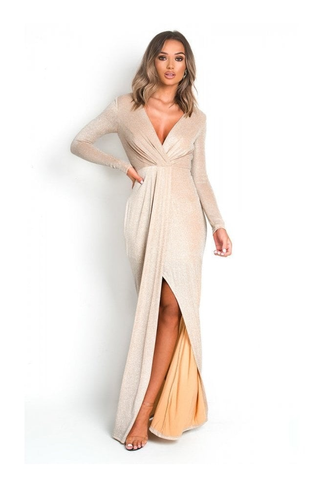 IKRUSH Elegance Evening Maxi Dress