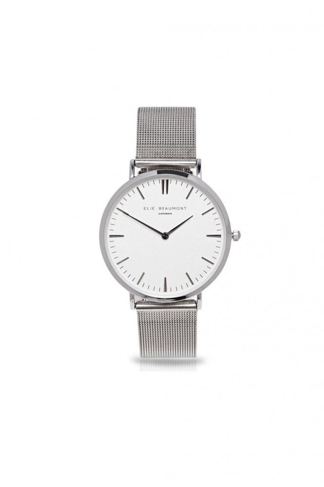 Elie Beaumont Oxford Small Mesh Silver Watch