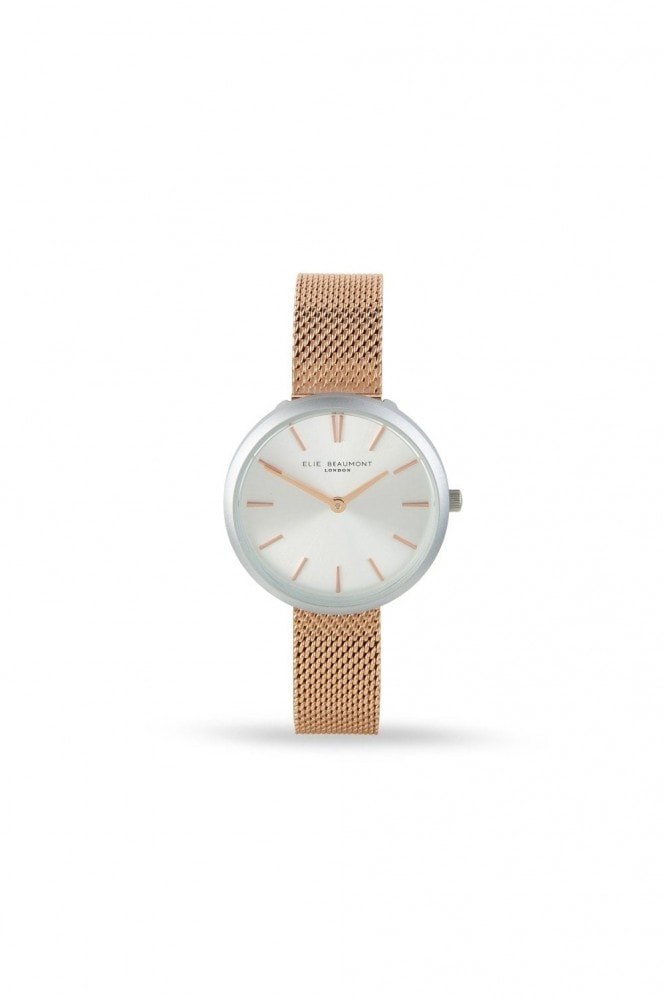 Elie Beaumont Marlow Rosegold Mesh Watch